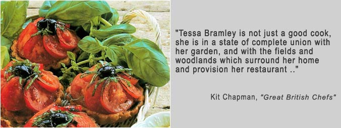 Tessa Bramley is in a state of complete union with her garden .. quote by Kit Chapman from Great British Chefs.